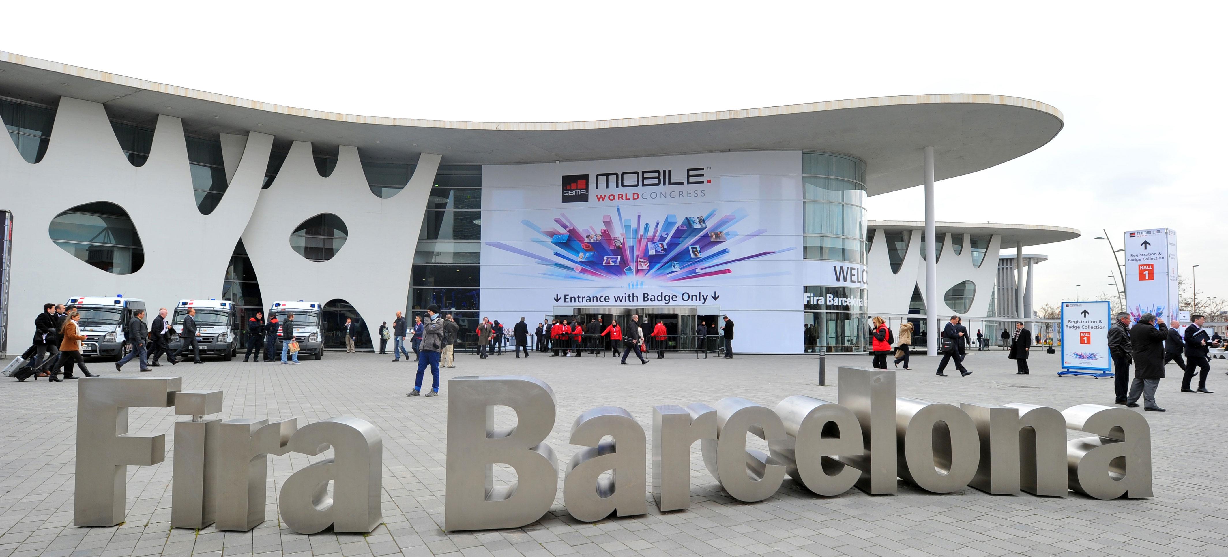 Mobile World Congress Barcelona outside