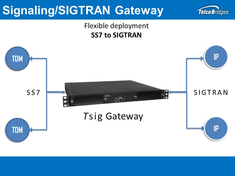 Tsig Signaling / SIGTRAN Gateway